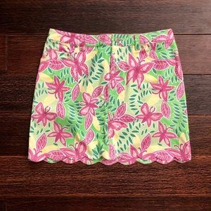 Like-new Lilly Pulitzer butterfly jean skirt